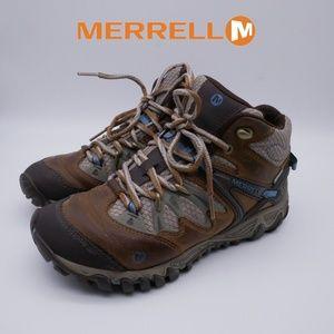 Merrell All Out Blaze Mid Brown Sugar Blue Heaven